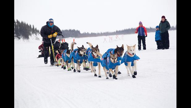 Joar Leifseth Ulsom leaves the checkpoint of White Mountain on his way to win the 2018 Iditarod.