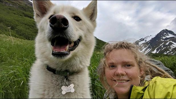Crow Pass guide dog Nanook rescued Amelia Milling last summer.